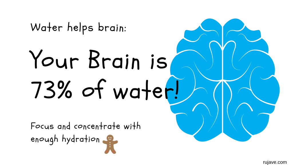 water and brain
