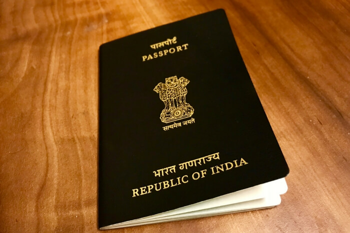 fresh Indian passport
