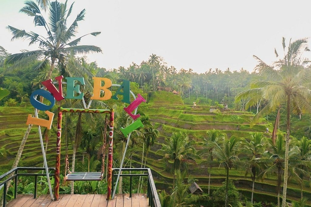 The Love Bali Sign - instagram worthy spots in Bali